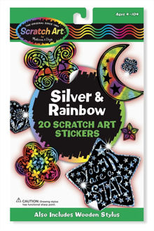 Picture of Silver & Rainbow Stickers