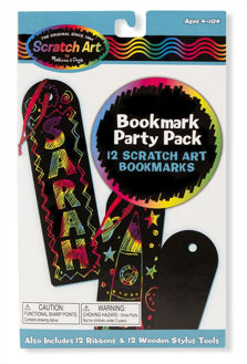 Picture of Bookmark Scratch Art Party Pack