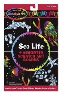 Picture of Sea Life Scratch Art