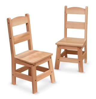 Picture of Wooden Chair Pair