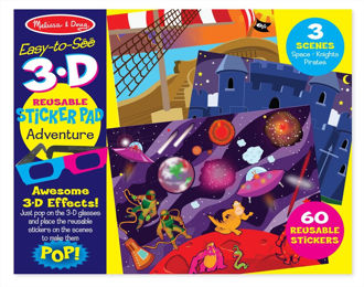 Picture of Melissa and Doug 3D Reusable Sticker Pad-Adventure