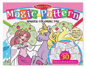 Picture of Magic-Pattern Marker Kids' Coloring Pad - Princesses