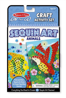Picture of On the Go Sequin Scenes Activity Set - Animals