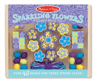 Picture of Wooden Bead Kits Sparkling Flowers