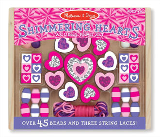 Picture of Wooden Bead Kits Shimmering Hearts