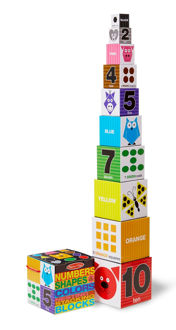 Picture of Numbers, Shapes & Colors Nesting & Stacking Blocks