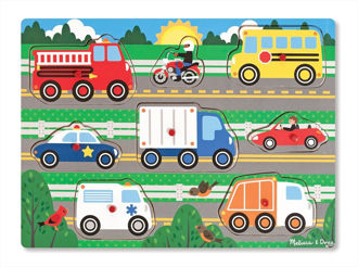 Picture of Wooden Peg puzzles Vehicles