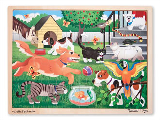 Picture of wooden Jigsaw Pets puzzle 24pc)