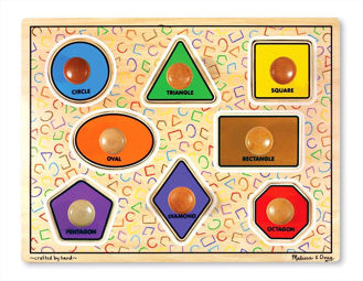 Picture of Large Shape Jumbo Knob Puzzle