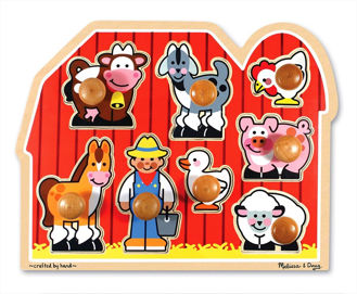 Picture of Jumbo knob puzzle - Farm Friends