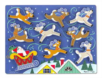 Picture of Santa & Reindeer Chunky Puzzle