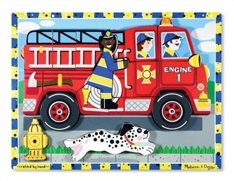 Picture of Fire Truck Chunky Puzzle