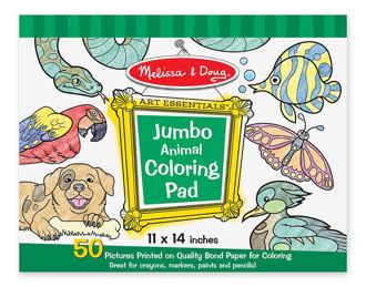 Picture of Melissa & Doug Jumbo Coloring Pad - Animals