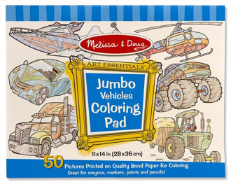 Picture of Jumbo Vehicles Coloring Pad