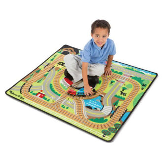 Picture of Round the Rails Train Rug
