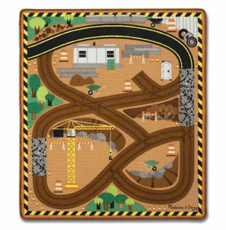 Picture of Round the Construction Zone Work Site Rug