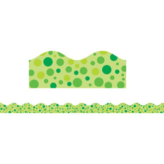 Picture of Green Polka Dots Scalloped Trimmer