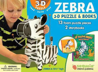 Picture of Zebra Wildlife 3D Puzzle and Books