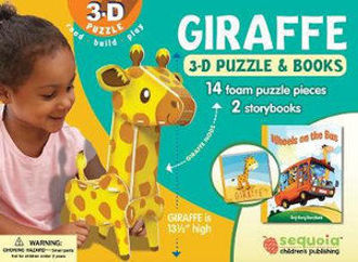 Picture of Giraffe 3-D Puzzle & 2-Book Set
