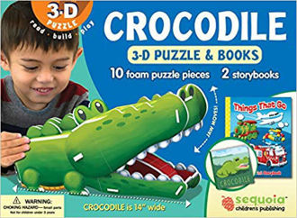 Picture of Crocodile 3-D Puzzle & 2-Book Set