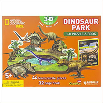 Picture of National Geographic - Dinosaur Park 3-D Puzzle & Book