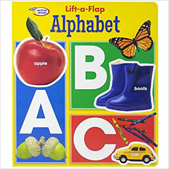 Picture of Active Minds - Lift a Flap Board Book - Alphabet