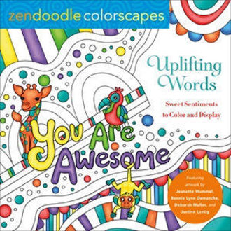Picture of Zendoodle Colorscapes: Uplifting Words