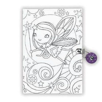 Picture of Fairy Color-In Locked Diary