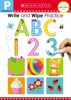 Picture of Write and Wipe Practice Flip Book: ABC 123