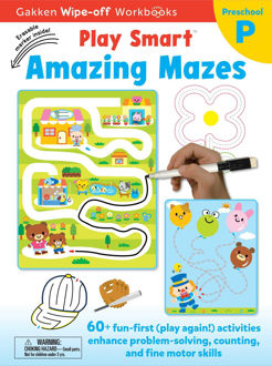 Picture of Play Smart Amazing Mazes: Write-off Workbook with Erasable Marker