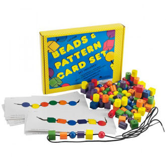 Picture of Learning Resources Beads & Pattern Card Set
