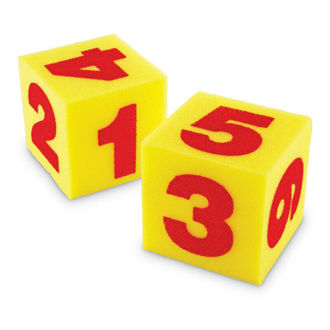 Picture of Learning Resources Giant Soft Numeral Cubes