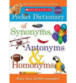 Picture of Scholastic Pocket Dictionary of Synonyms, Antonyms, and Homonyms
