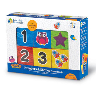 Picture of Learning Resources Numbers & Shapes Puzzle Blocks