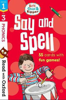Picture of Read with Oxford Stages 1-3 Biff, Chip and Kipper Say and Spell Flashcards