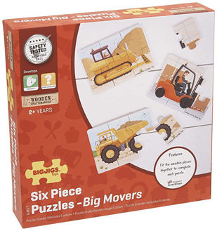 Picture of Big Movers (6 Piece Puzzles) - 3 Puzzles
