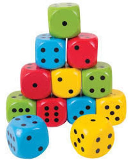 Picture of Giant Dice Coloured