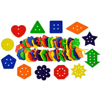 Picture of 12 Shape Number & Geometry Buttons 444pcs