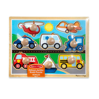 Picture of jumbo knob puzzle - Vehicles