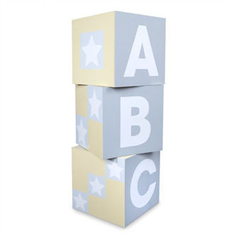 Picture of ABC-123 BLOCKS - NATURAL (3 PIECES)