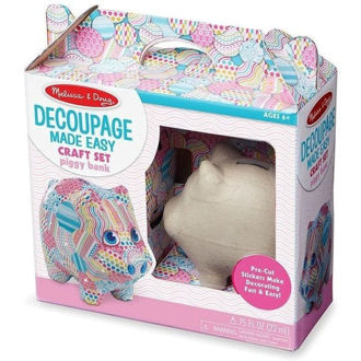 Picture of Melissa & Doug Decoupage Made Easy Craft Set Piggy Bank