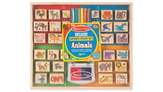 Picture of Animals Deluxe Wooden Stamp Set
