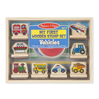 Picture of My First Wooden Vehicles Stamp Set