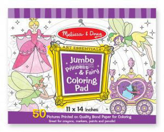 Picture of Jumbo Coloring Pad Princess & Fairy