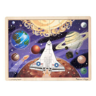 Picture of Space Voyage Wooden Jigsaw Puzzle - 48 Pieces