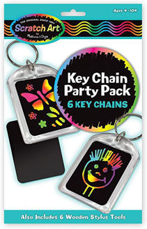 Picture of Key Chain Scratch Art Party Pack