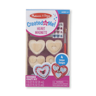 Picture of Created by Me! Heart Magnets Wooden Craft Kit