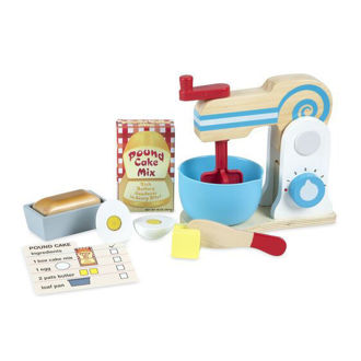 Picture of Wooden Make-a-Cake Mixer Set