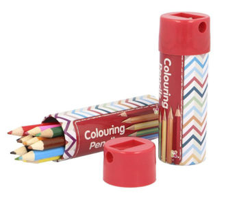 Picture of Pencil Crayons in Sharpener Tin