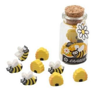 Picture of Honey Bee Erasers in Jar